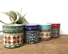 10 good decor resolutions to take at the show - HomeDBS Small Succulents, Potted Flowers, Succulent Planters, Flower Pots, Diy Projects For Couples, Southwestern Wedding, Balcony Plants, Diy Shops, Ceramic Pots