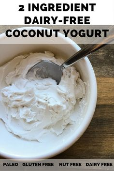The EASIEST dairy-free yogurt to make at home. It's in my fridge all the time now! Homemade coconut milk yogurt made with canned coconut milk. Brownie Desserts, Oreo Dessert, Mini Desserts, Coconut Milk Yogurt, Vegan Yogurt, Canned Coconut Milk, Dairy Free Greek Yogurt, Dairy Free Yogurt Substitute, Lactose Free Yogurt Recipe