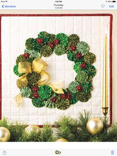 Quilting - Holiday & Seasonal Patterns - Christmas Patterns Greet friends and family this holiday season with a delightful and whimsical door hanging. This e-pattern was originally published in Quilted Christmas Traditions. Size: x Skill Level: Beginner Christmas Sewing, Christmas Holidays, Christmas Wreaths, Christmas Decorations, Christmas Ornaments, Christmas Patterns, Christmas Quilting, Christmas Projects, Holiday Crafts