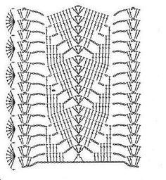 69 ideas for crochet shawl pattern free diagram stitches Crochet Skirt Pattern, Crochet Lace Edging, Crochet Motifs, Crochet Diagram, Crochet Stitches Patterns, Crochet Chart, Free Crochet, Stitch Patterns, Toilet Paper