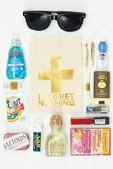 Bachelorette First Aid Bags - No Regrets! in White Gift Baskets For Men, Themed Gift Baskets, Raffle Baskets, 21st Birthday Gifts, 21st Gifts, Birthday Gifts For Boyfriend, Boyfriend Care Package, Hangover Kit Bags, Silent Auction Baskets