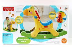 Giraffe - Rockin  Tunes-  Music, Lights & Fun Phrases - Toddlers Rocking Horse