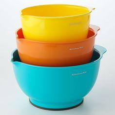 Make cooking fun with bright bowls. #KitchenAid #cookware #Kohls