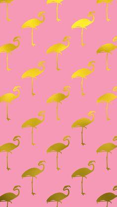 Flamingo pattern wallapper❤