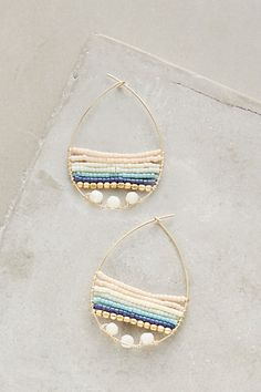 Baydrop Hoops #anthropologie
