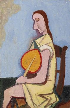 Karl Hofer - Frau mit Fächer (1953)