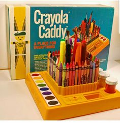 The crayola caddy. Much things created with this 1980s Childhood, My Childhood Memories, Sweet Memories, 1980s Toys, Retro Toys, Vintage Toys, School Memories, 80s Kids, Ol Days