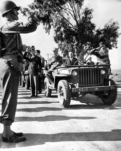 Franklin D. Roosevelt reviews the troops during his trip to Morocco for the Casablanca Conference. January 21, 1943.