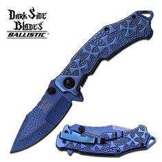 Swords of Might - DARK SIDE BLADES BLUE IRON CROSS SPRING ASSISTED KNIFE, $9.99 (http://www.swordsofmight.com/dark-side-blades-blue-iron-cross-spring-assisted-knife/)