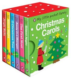 My Little Pocket Library Christmas (6 Board Books) - Free Shipping