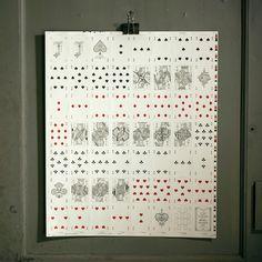 Uncut Cards as Art