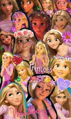 I collage whatever. Depends on the mood. Disney Wallpaper Tangled, Disney Phone Wallpaper, Tangled Cartoon, Disney Tangled, Tangled Movie, Disney Collage, Disney Art, Princesa Rapunzel Disney, Punk Disney Princesses
