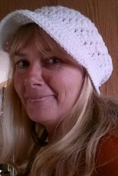 Ladies' WhiteBrimmed Crochet Slouch Hat by ABitofEverything4U, $12.95