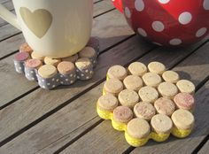 Tea For Two: diy wine cork coasters