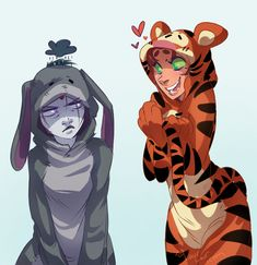Can we just take a moment to appreciate this picture? Raven and Starfire. Dressed up as eeyore and tigger. Teen titans and Disney! I be fangurling so hard Teen Titans Raven, Teen Titans Go, Teen Titans Fanart, Star Fire Teen Titans, Teen Titans Funny, Batwoman, Nightwing, Beast Boy, Starfire And Raven