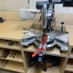 Woodworker's Journal - Ultimate Miter Saw Stand Plan Miter Saw Stand Plans, Miter Saw Bench, Mitre Saw Stand, Workshop Storage, Tool Storage, Lumber Storage, Rockler Woodworking, Woodworking Shop, Woodworking Videos