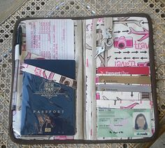 Travel Wallet/Organizer - PURSES, BAGS, WALLETS I totally want to make one of these!