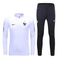 Survetement Equipe de France 2016-2017 Blanc Tracksuit Tops 819ebb45845
