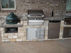 Outdoor bar grill islands a home for the big green egg for Outdoor kitchen designs using green eggs