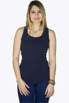 Every fashionista knows that you need some good fundamental basic items to built your wardrobe on, just like Blake Lively does! And where better to shop your basic items than at 2dayslook! Shop this beautiful navy basic top now.  #2dayslook #navy #clothings #tanktop  www.2dayslook.com