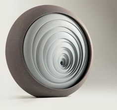 British artist Matthew Chambers creates abstract contemporary ceramic sculptures.