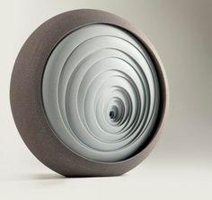 British artist Matthew Chambers creates abstract contemporary ceramic sculptures.