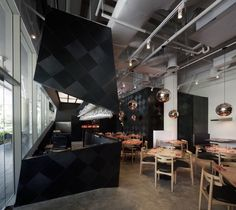 Vintage Restaurant Interior Design : The Tastings Room by Studio SKLIM Restaurant Interior Design, Commercial Interior Design, Cafe Interior, Commercial Interiors, Modern Interior Design, Interior Architecture, Bistro Interior, Singapore Architecture, Room Interior