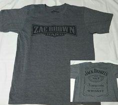 fdbfffc7b Zac Brown Band Jack Daniels Old No.7 Tennessee Whiskey T-Shirt Men Medium