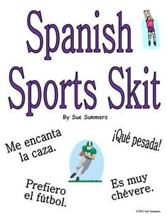 Spanish Sports Skit / Role Play by Sue Summers - Gustar & Encantar, Spanish pair work, partner activity.