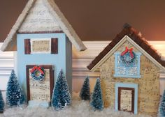 DIY Christmas Village Houses