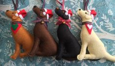 Your place to buy and sell all things handmade Christmas Hat, Christmas Ornaments, Wool Felt, Labrador, Dinosaur Stuffed Animal, Hanging Decorations, Holiday Decor, Handmade, Animals