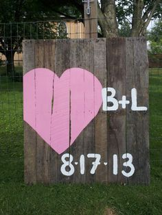 cute heart pallet sign for your event- could hang it in the home after