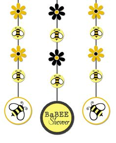 bumble bee baby shower supplies | Bumble Bee Hanging Cutouts