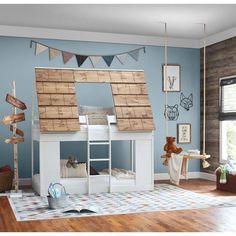 Children's Furniture Store, Teen Furniture, Nursery Furniture, Cabin Bunk Beds, Wood Bunk Beds, Farmhouse Bunk Beds, Bunk Bed Playhouse, Toddler Bunk Beds, Kid Beds