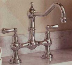 Rohlu0027s Polished Nickel Bridge Faucet Kitchen