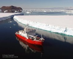 The Royal Navy's Antarctic Survey Vessel HMS Endurance during her patrol of the Antarctic Peninsula early in 2007.