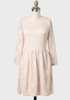 Pretty Long Sleeved Lace Dress Bridesmaids