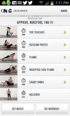 Nike Training Club app is a great FREE source for workout ideas for home or gym. | via @FitBottomedGirl