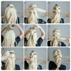 Work Hairstyles, Bohemian Hairstyles, Summer Hairstyles, Braided Hairstyles, Wedding Hairstyles, Glamour Hair, Hair Images, Love Hair, Hair Dos