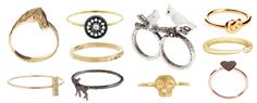 Avanessi knot ring (just $230). Jennifer Meyer Hammered Band ($500). Jennifer Meyer Bar ring ($350)
