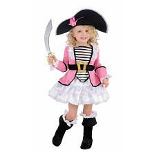 Pirate Pink Halloween Costume - Toddler Size  this is what she will be for hollween!!!