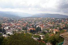 LEBANON, PANORAMIC VIEW OF HAMMANA, SUMMER RESORT