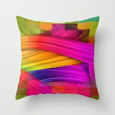 Colorfull 4 by Nico Bielow Throw Pillow by Nicobielow - $20.00