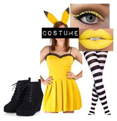 """Pikachu Costume"" by bella20071 ❤ liked on Polyvore"