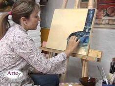 Los secretos de la pintura en acrilico con espátula y pincel (clase completa) - YouTube
