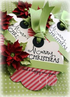 Holiday gift tags by Jen del Muro using Verve Stamps. #vervestamps