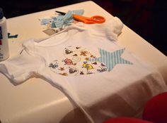 Decorate a onesie at a baby shower #babyshower #onesie