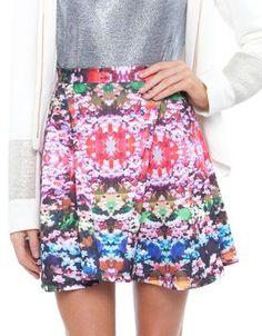 Neo Prene Floral Skirt