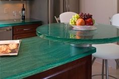 Glass countertops. Doing this on my new island