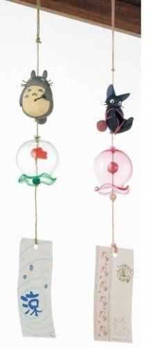 2 left- Wind Chime -Yarn- Natural Rose Quartz- Jiji - Kiki's Delivery Service - no production (new)